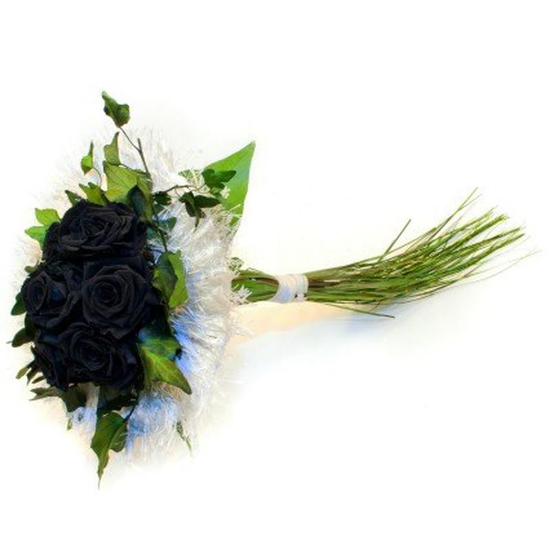 Ramo De Novia Con Rosas Negras Flores Frescas Online